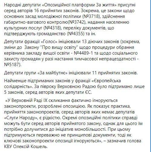 """За пол года Верховной Радой было поддержано лишь 5 законов """"Евросолидарности"""""""
