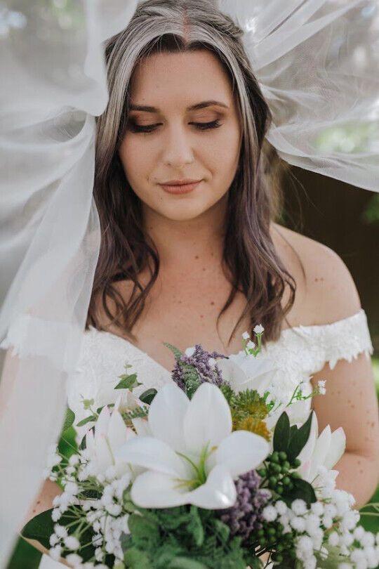 Софи МакГрат в день свадьбы.