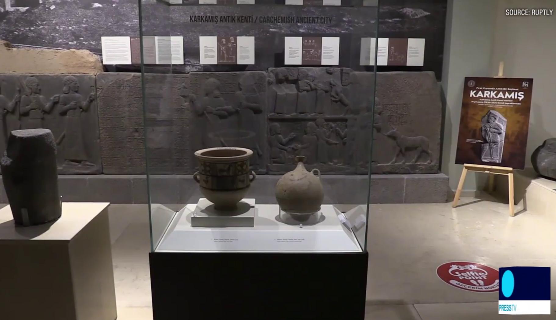 Експонат розташований у Газіантепському археологічному музеї