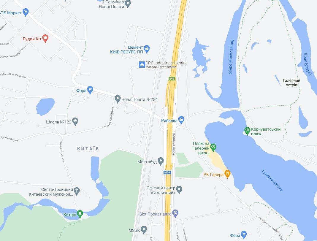 ДТП произошло на Столичном шоссе.