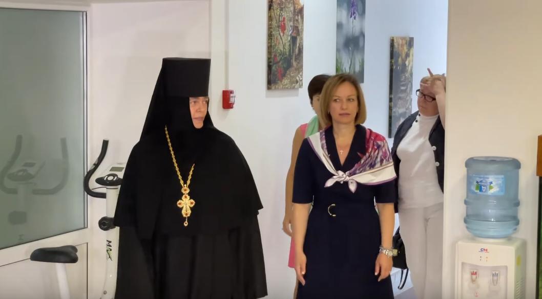 Марина Лазебная и игуменья Серафима