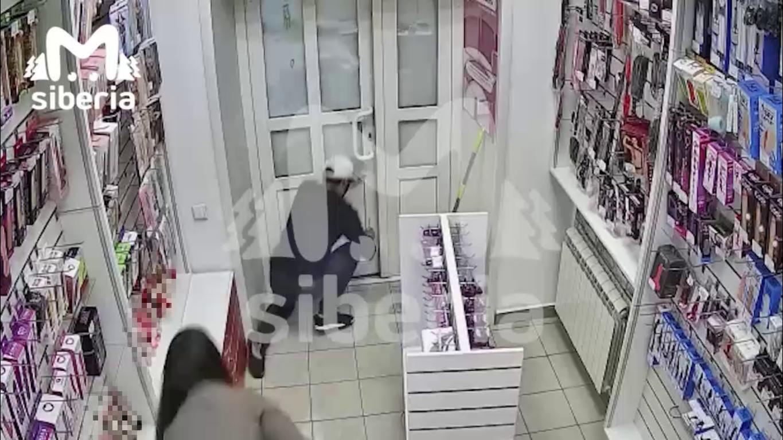 Грабитель упал