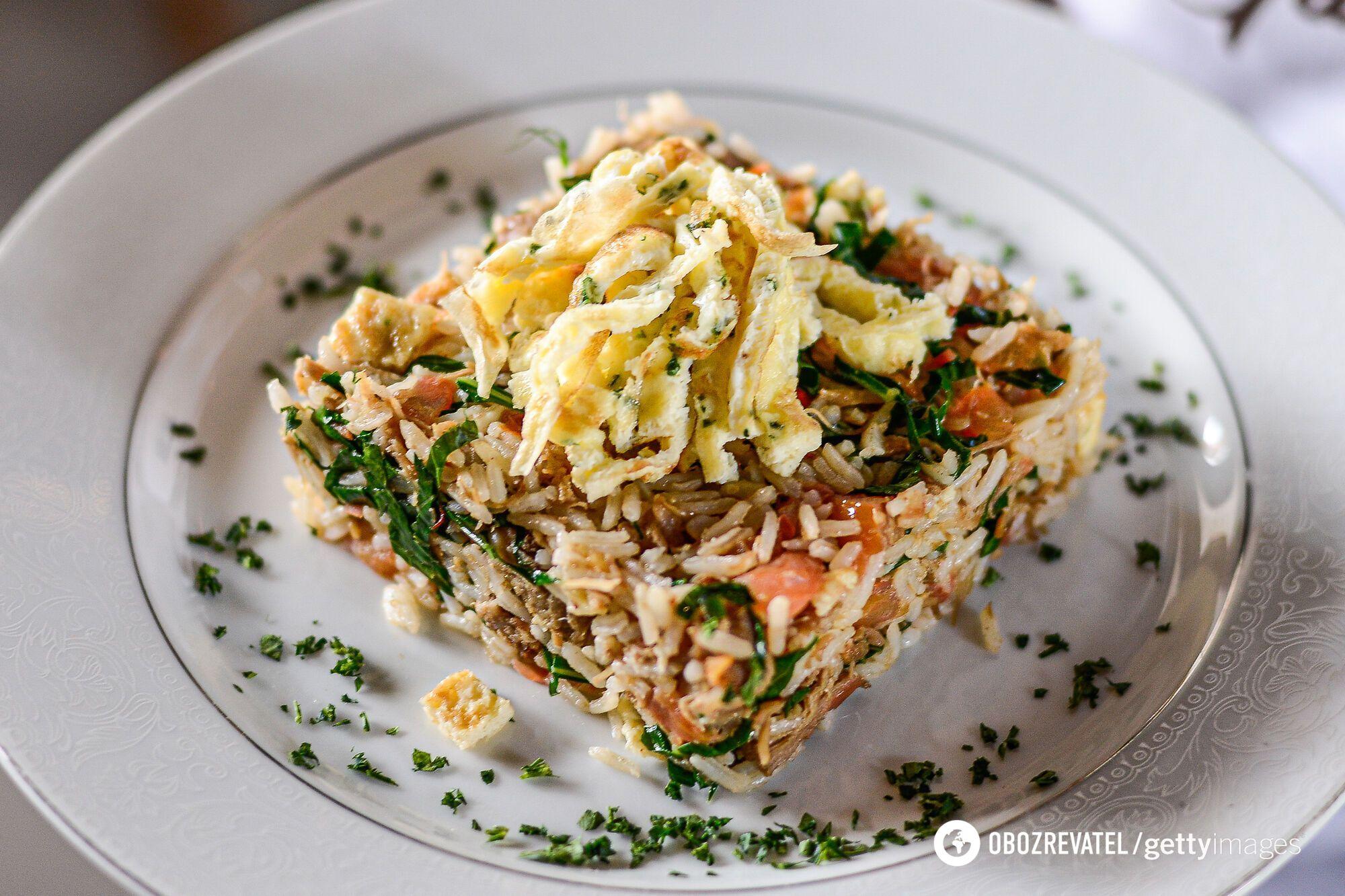 Капуста з рисом