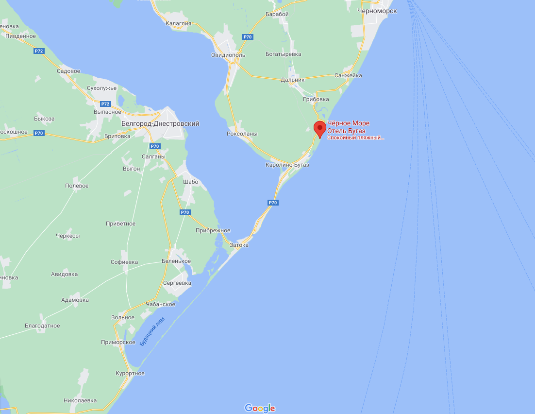 Bugas Sea View расположена в Грибовке.