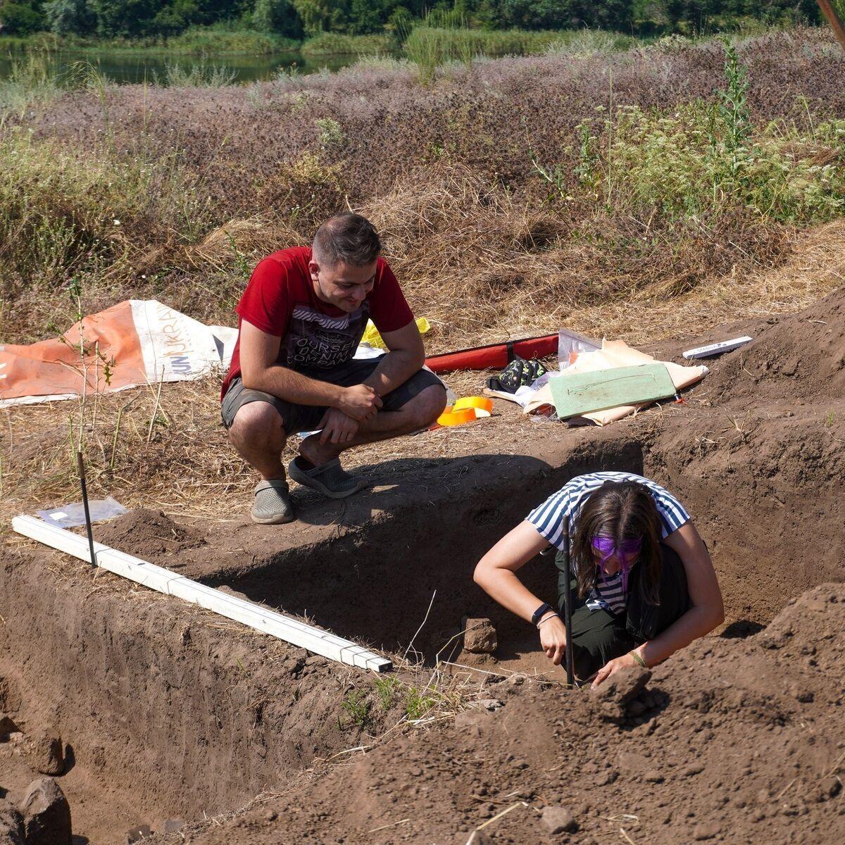 Раскопки на острове Хортица