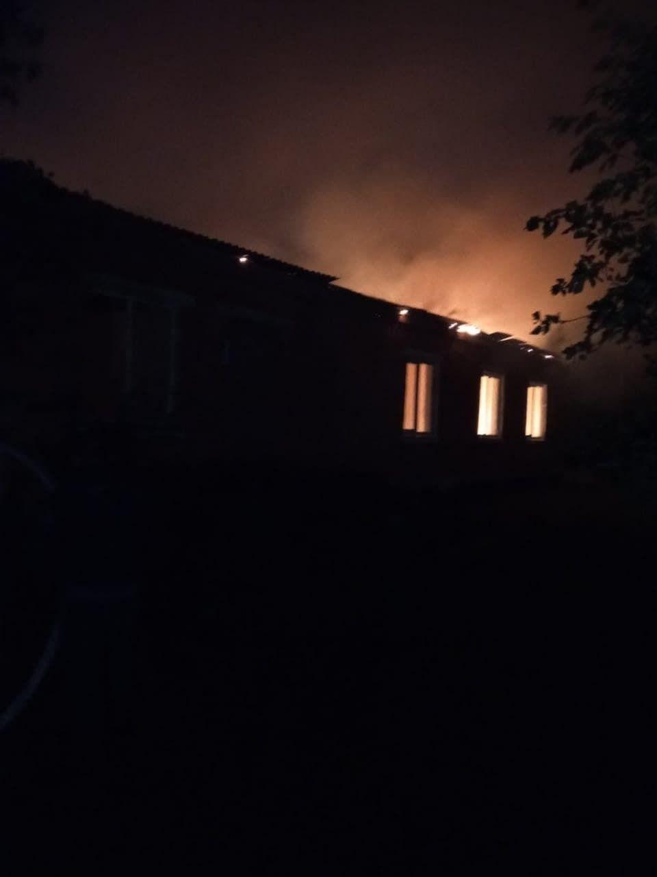 Пожежа в школі села Перекалля
