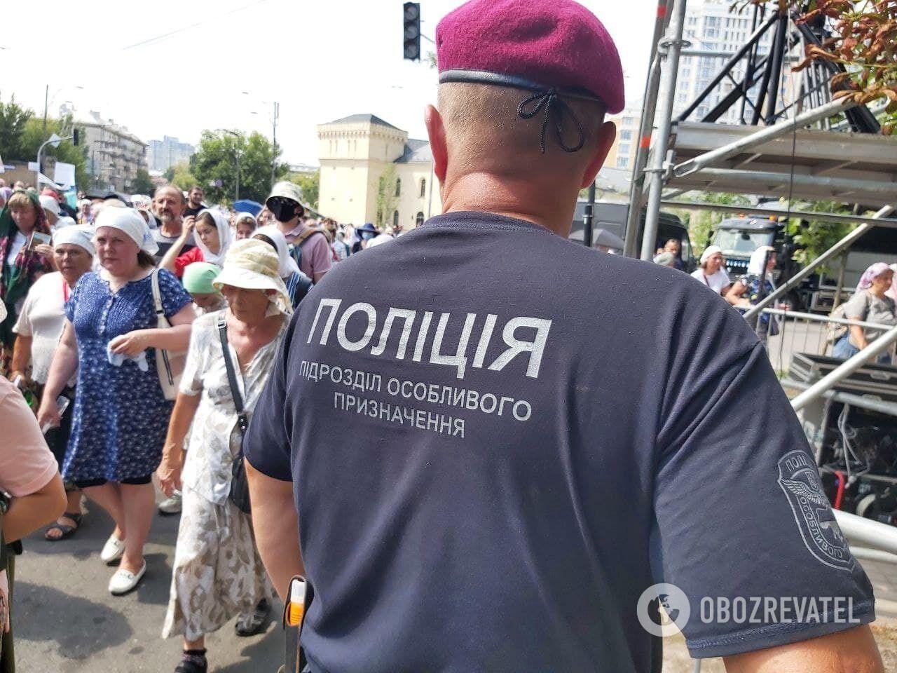 Полиция усилила меры безопасности в центре Киева.