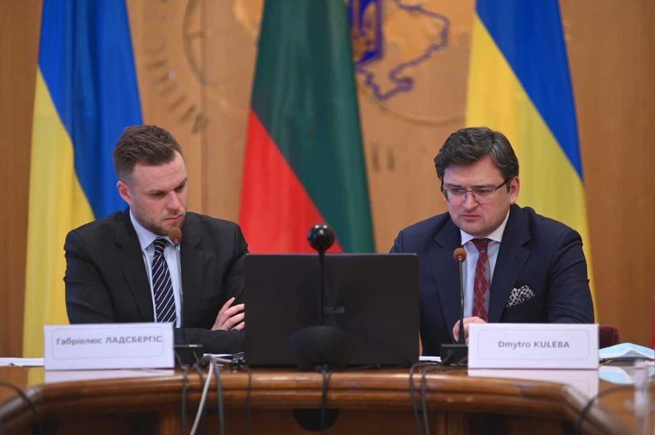 Главы МИД Литвы и Украины