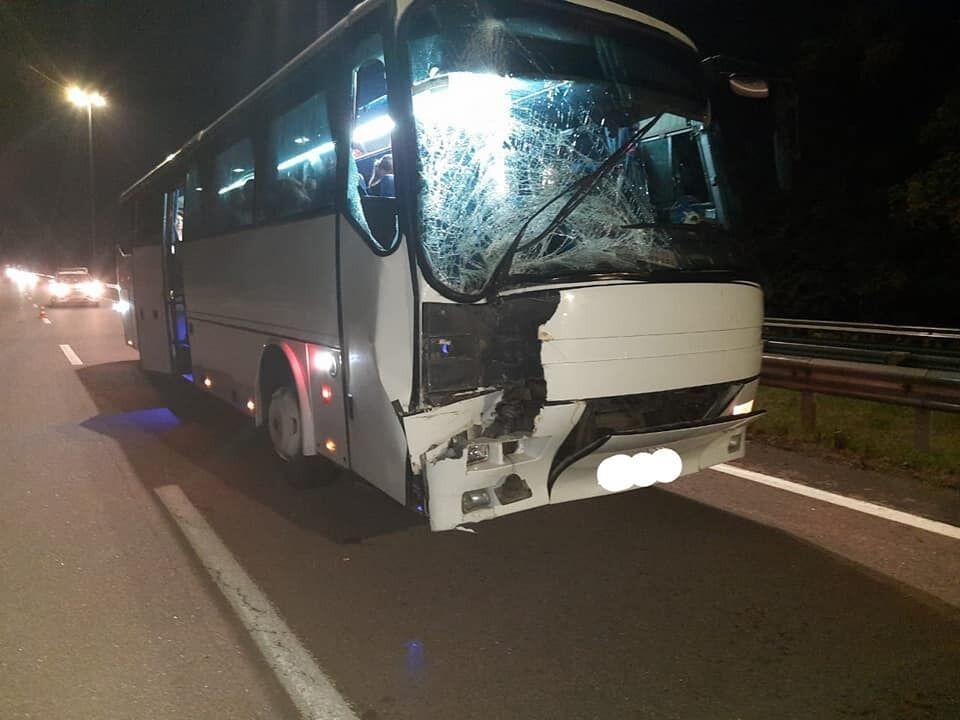 Автобус, в котором ехали паломники