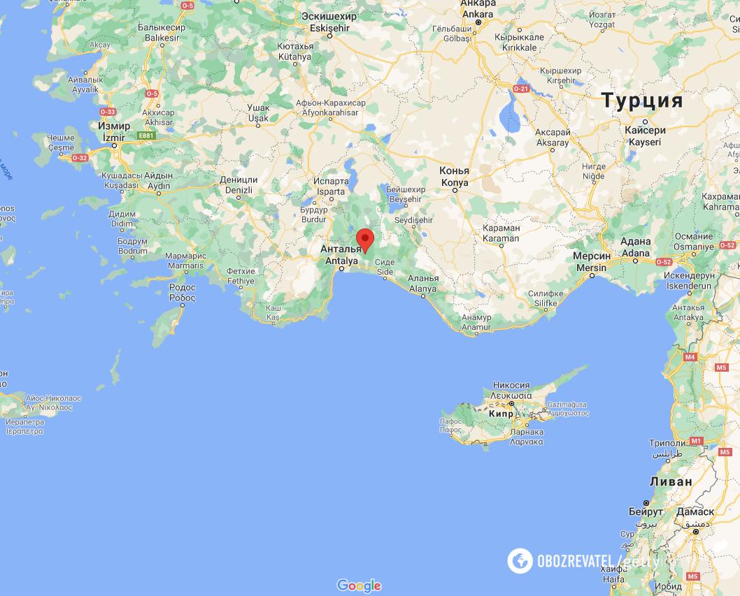 Пожары вспыхнули в провинции Анталья.