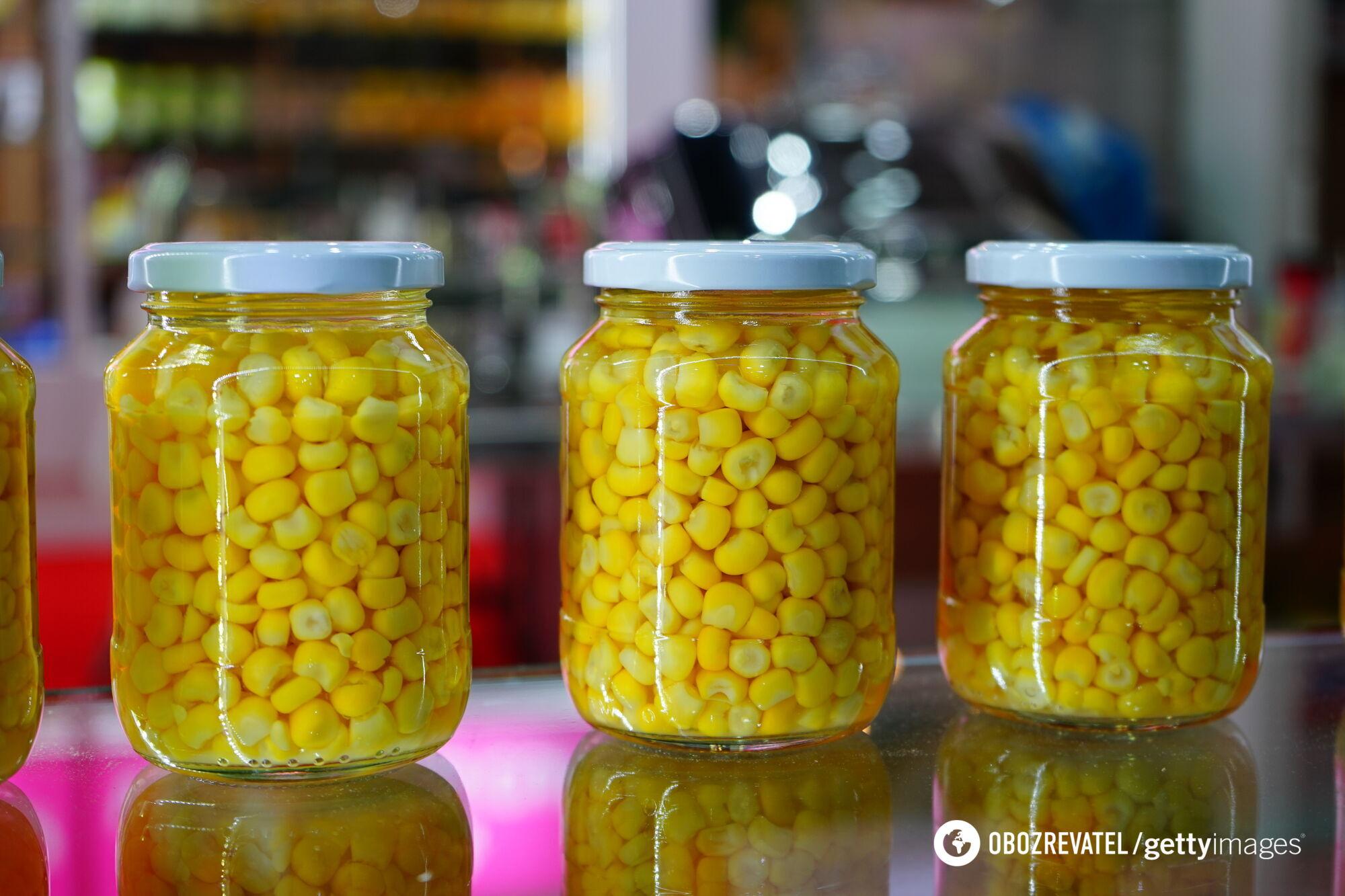 Домашня консервована кукурудза