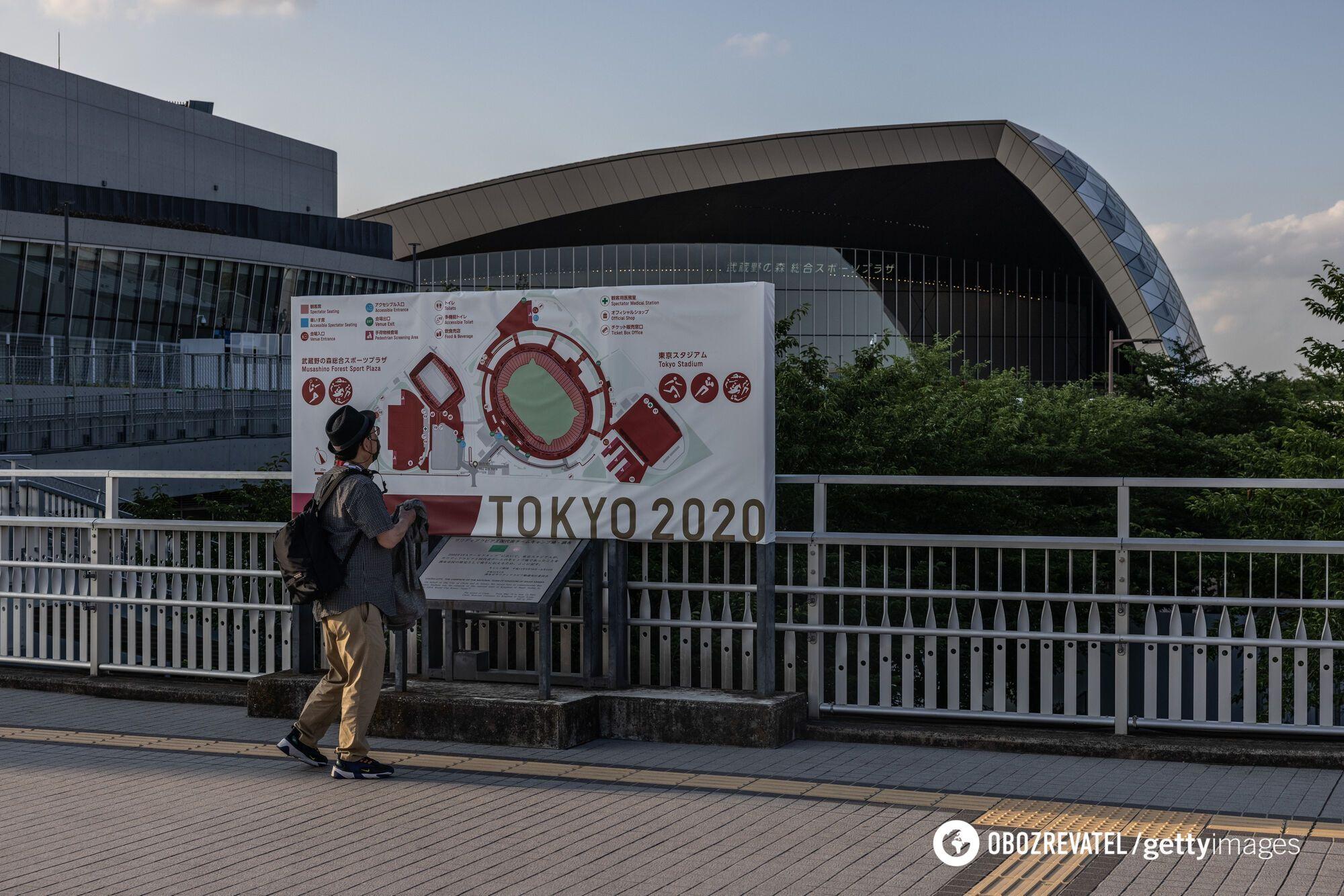 Олимпийский стадион в Токио, где пройдут соревнования