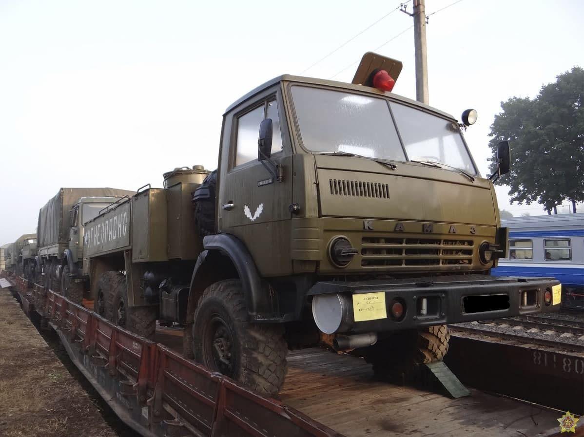 Военная техника прибыла в Беларусь.
