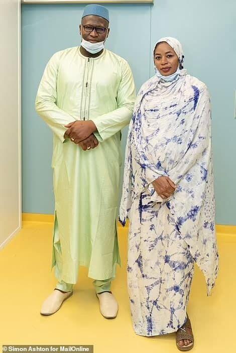 Халима Сиссе вместе с супругом.