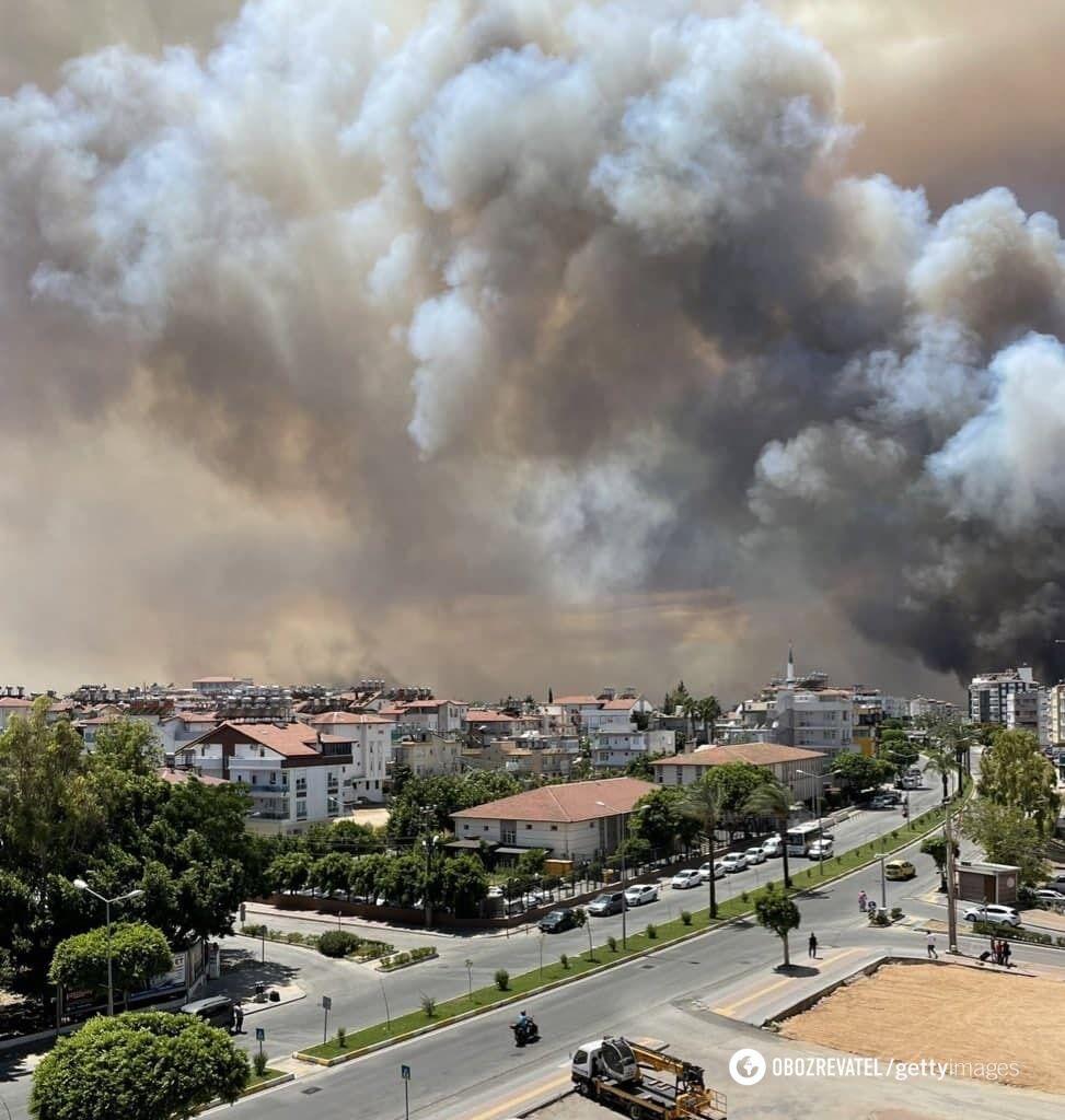 Лесные пожары в Турции.