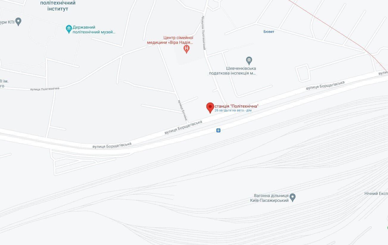 Тіло загиблого знайшли недалеко від станції швидкісного трамвая.