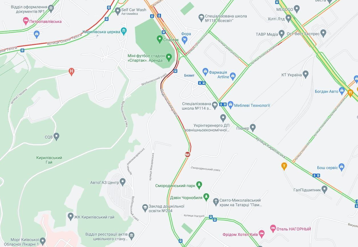 Авария произошла в Подольском районе.