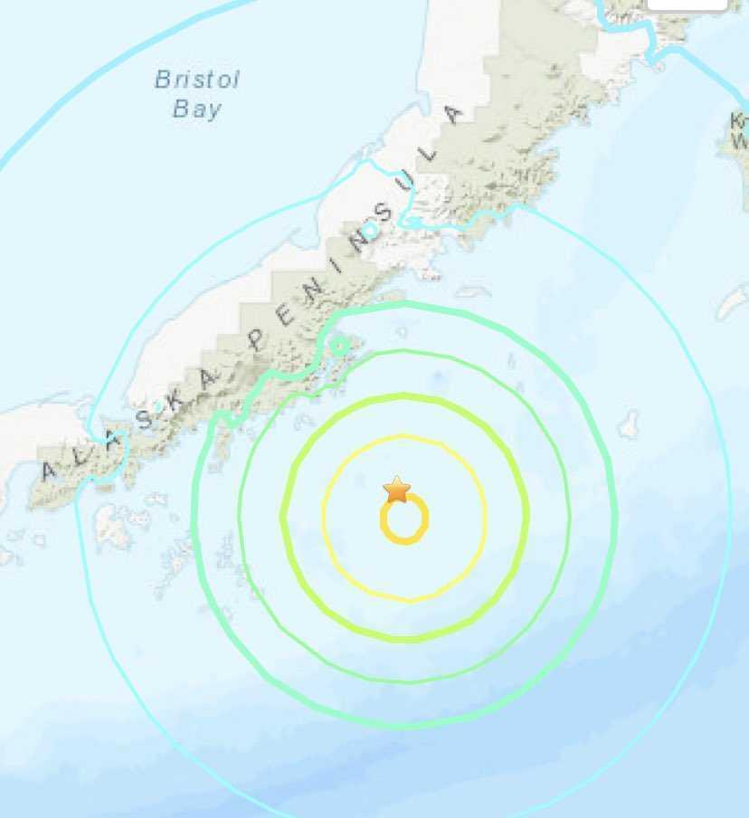 На Аляске произошло мощное землетрясение .