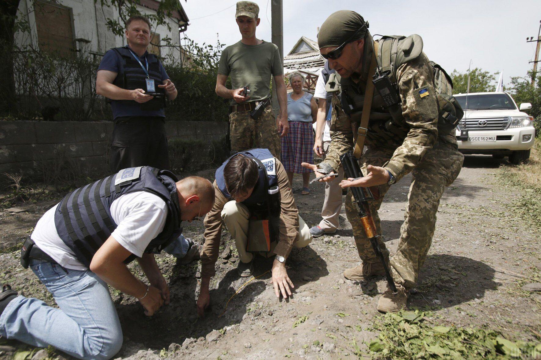 Авдеевка после обстрела, 23 июня 2016 года