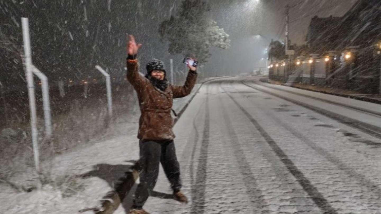 В южной части Бразилии выпал снег.
