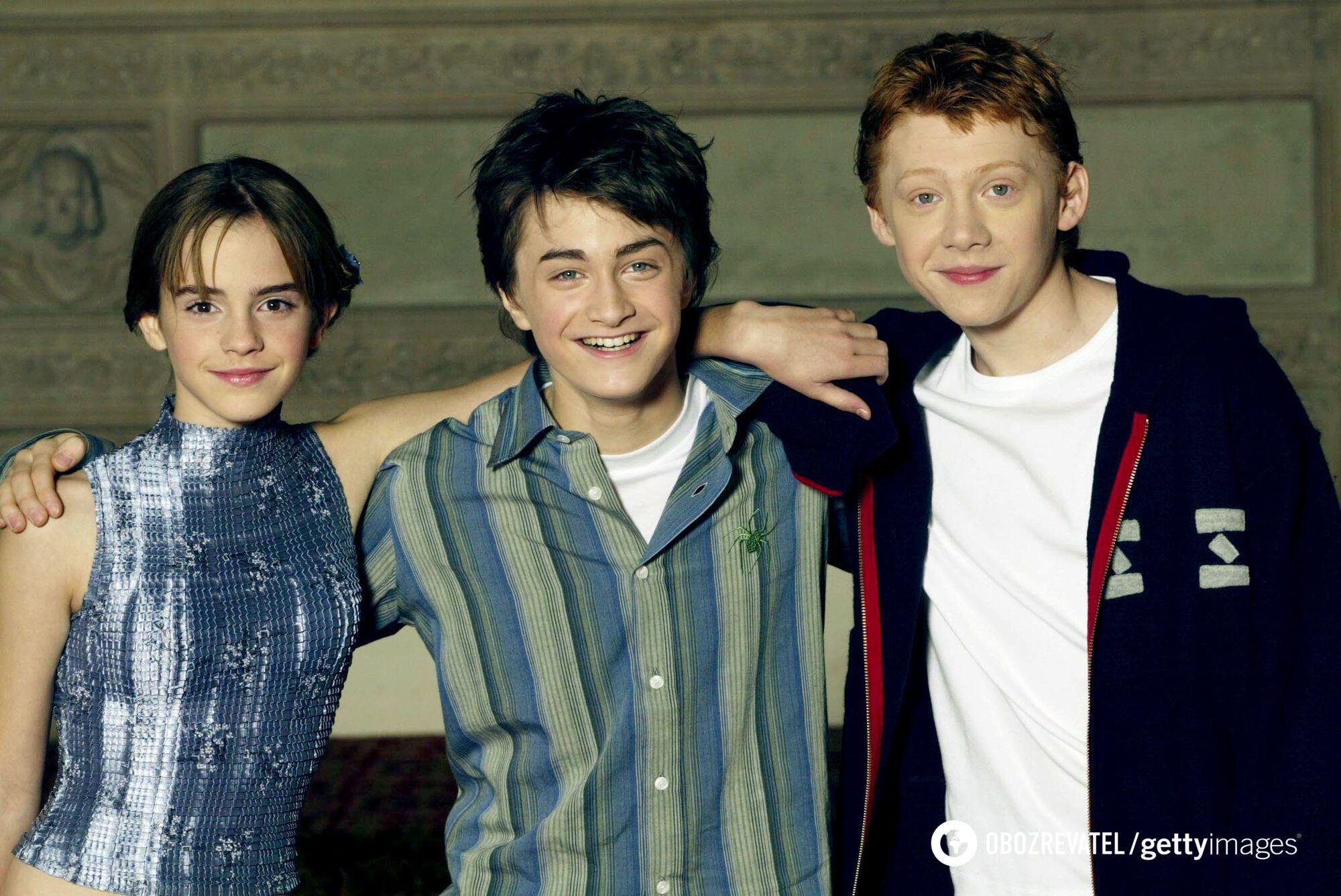 """Троє головних персонажів """"Гаррі Поттера""""."""