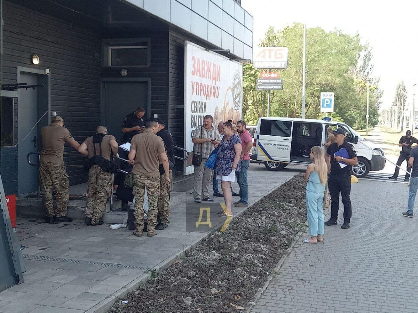 Взрыв почтомата в Одессе