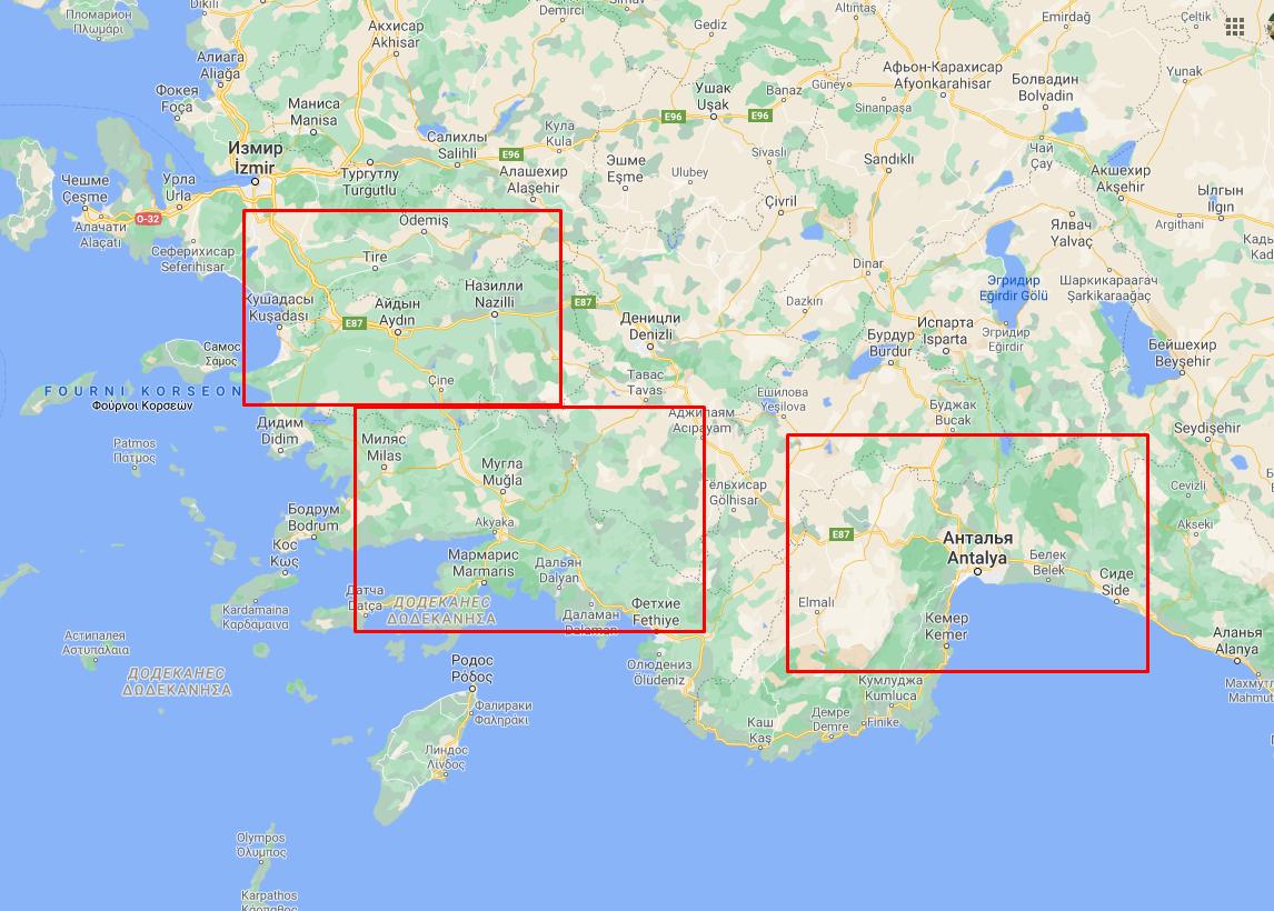 Пожежі охопили щонайменше три провінції