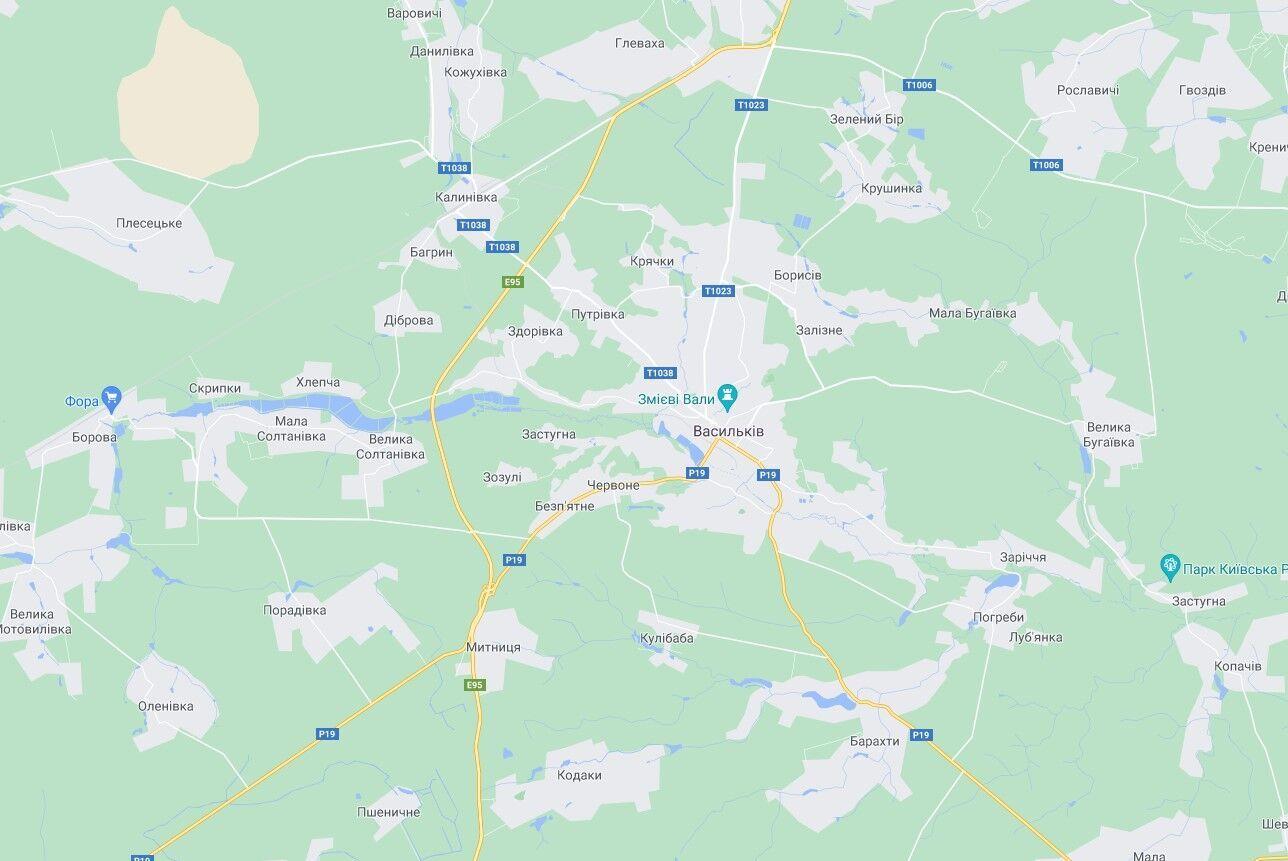 Злоумышленника задержали недалеко от Василькова.