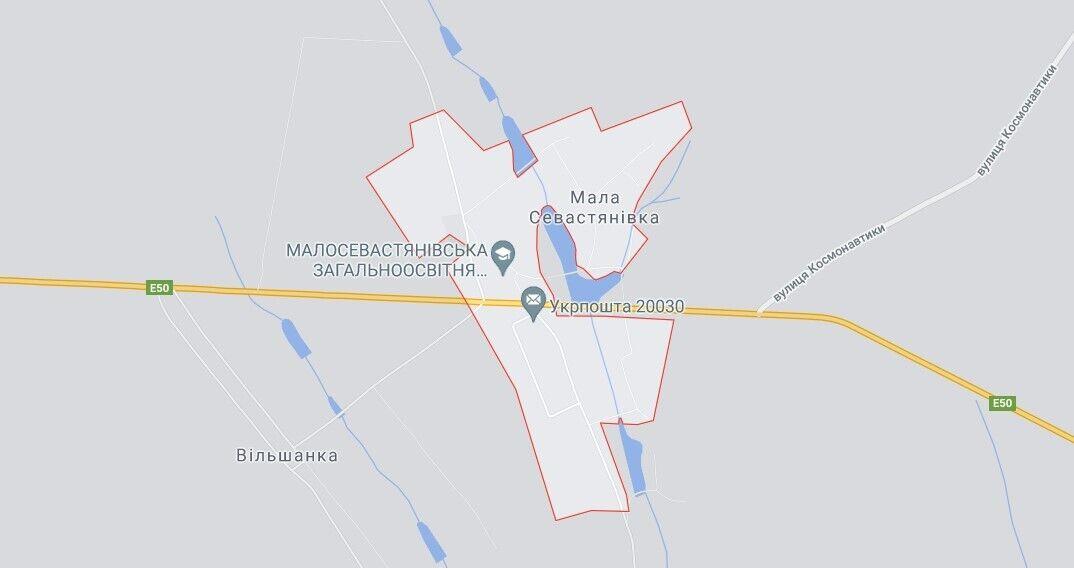 Авария произошла возле села Малая Севастьяновка