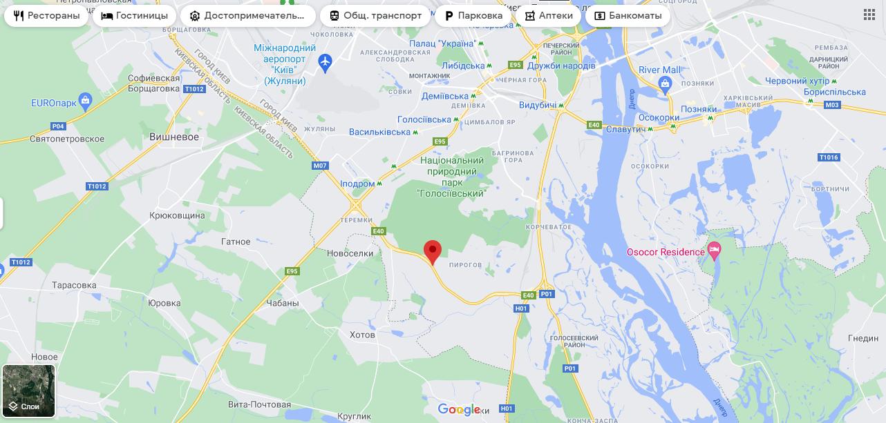 Улица Академика Заболотного на карте