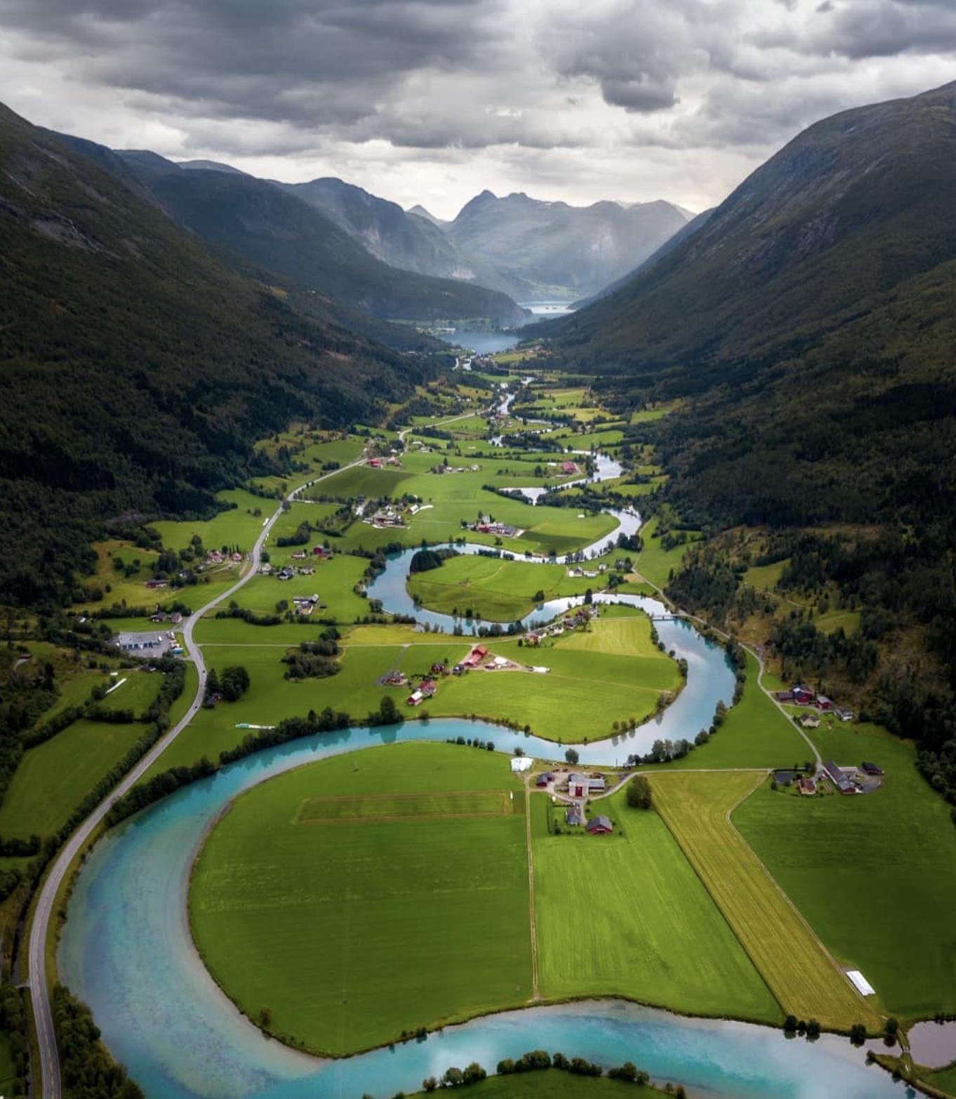 Лососевая река Стринэльва в Норвегии.