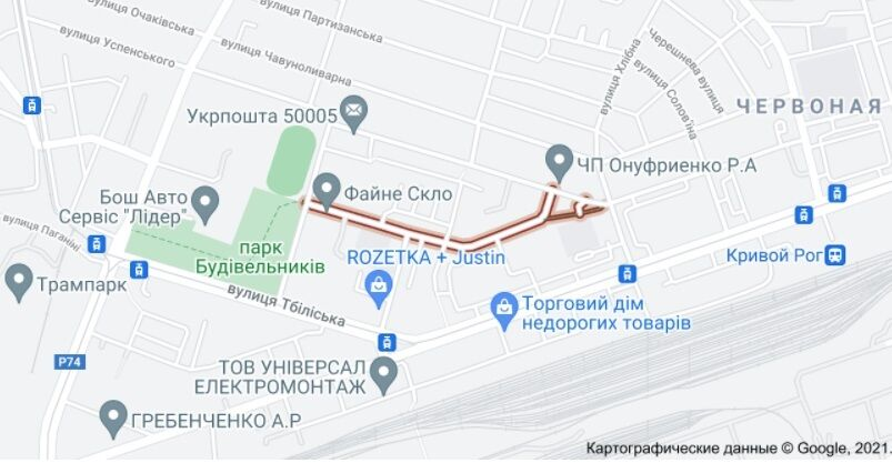 Инцидент произошел на улице Циолковского.
