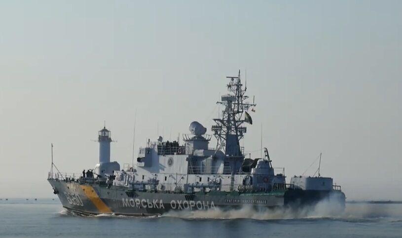 До навчань залучили сили морської охорони.