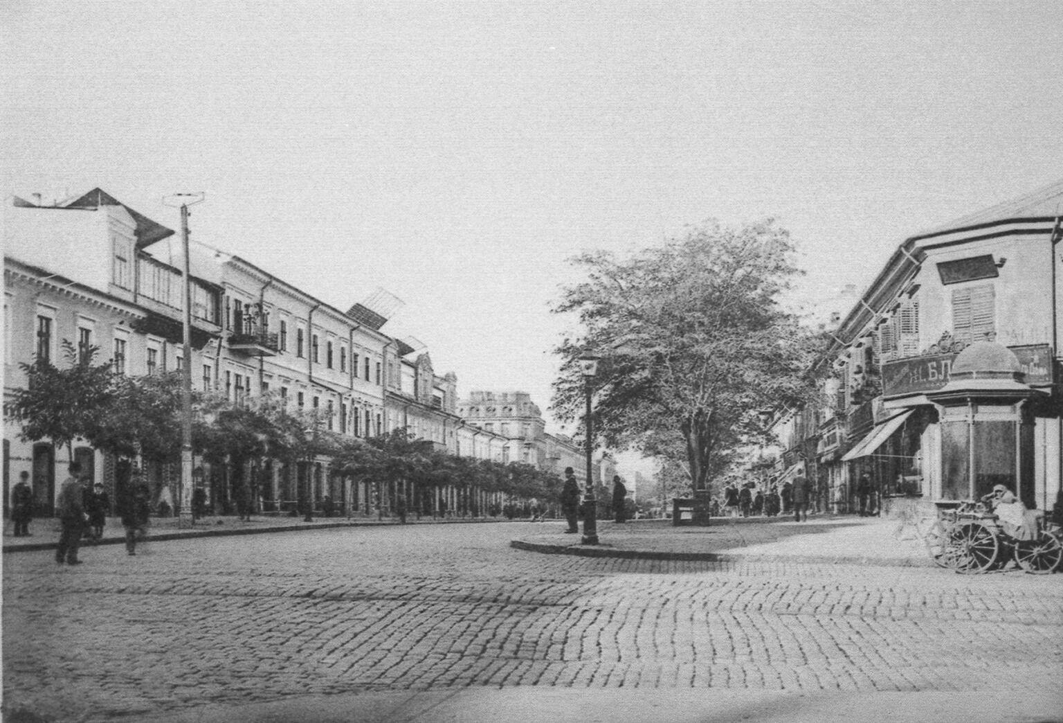 Угол Екатерининской, конец XIX века