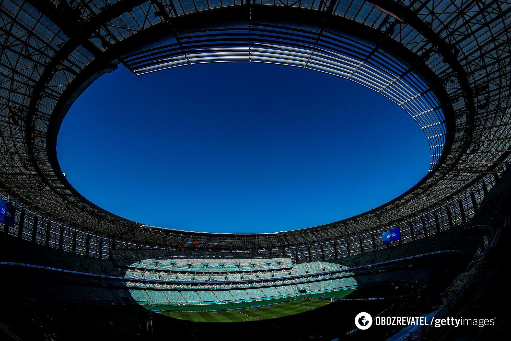Олимпийский стадион в Баку.