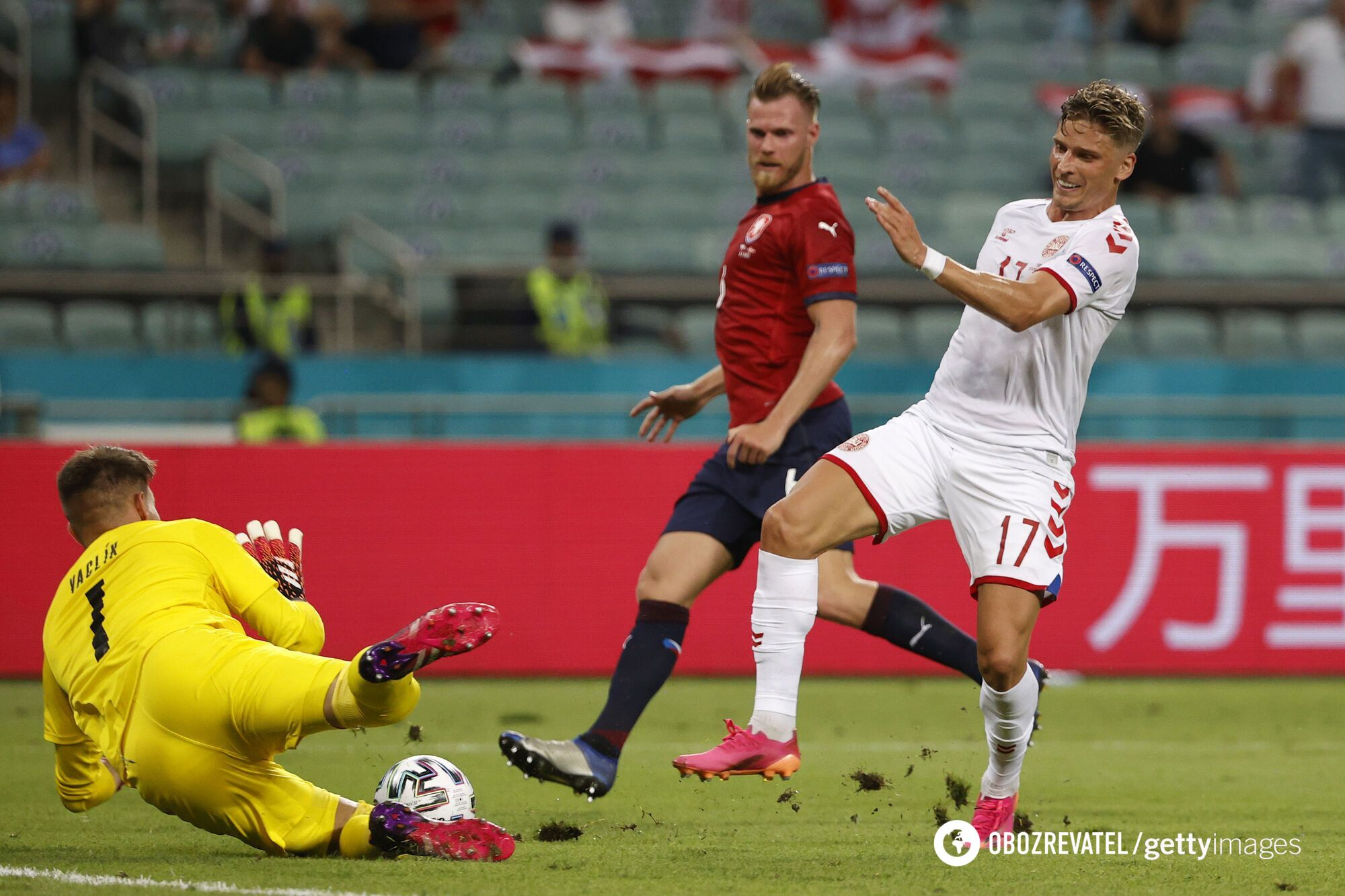 Дания справилась с Чехией в четвертьфинале