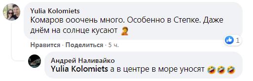 Користувачі Facebook розповіли про відпочинок в Кирилівці