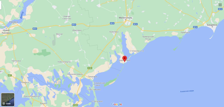 Кирилівка на мапі
