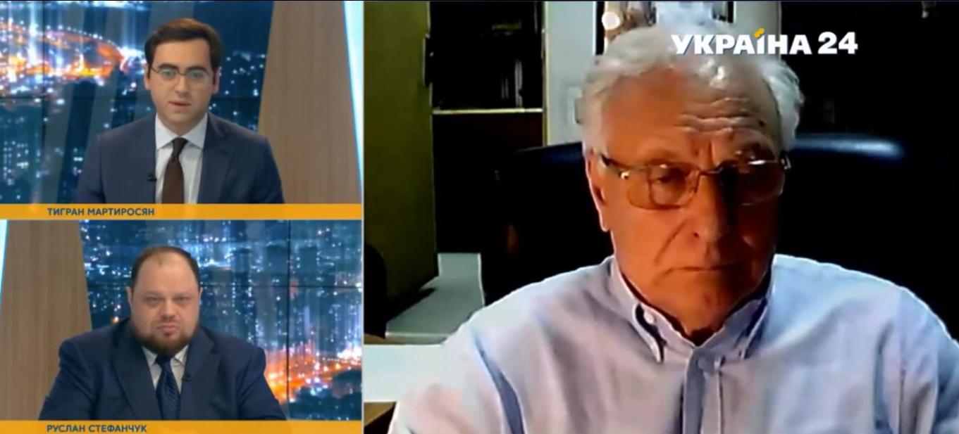 Академік Сергій Комісаренко на українському телеканалі прокоментував інцидент