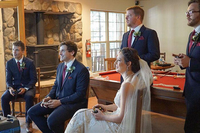 Невеста не нервничает перед свадьбой