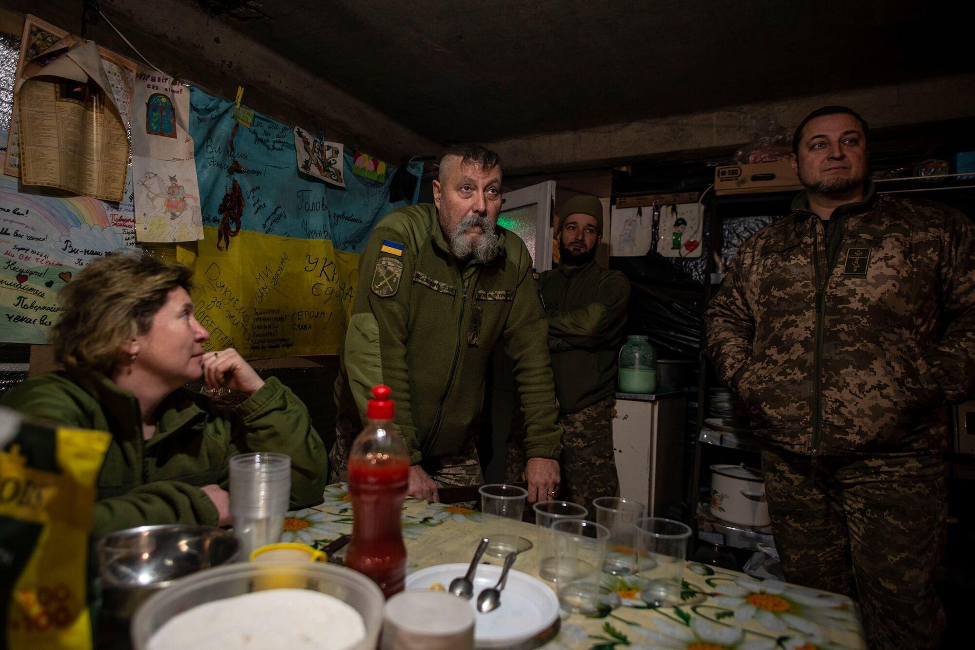 Медицинский пункт в Крымском Луганской области.