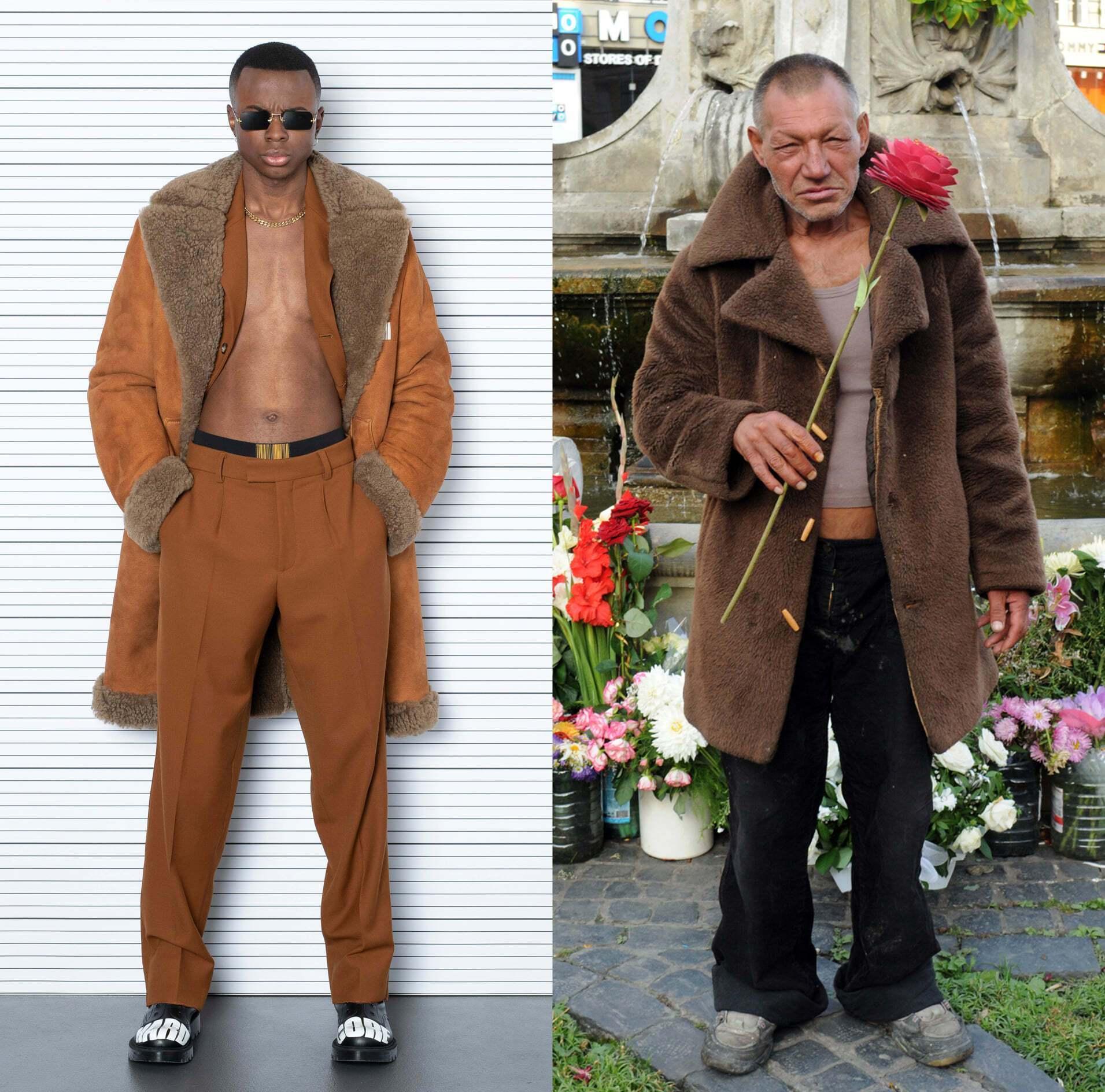 Образ бездомного в модном мире.