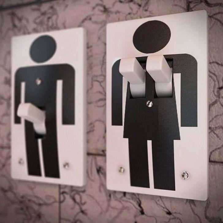 Выключатели света рассмешили посетителей ресторана.