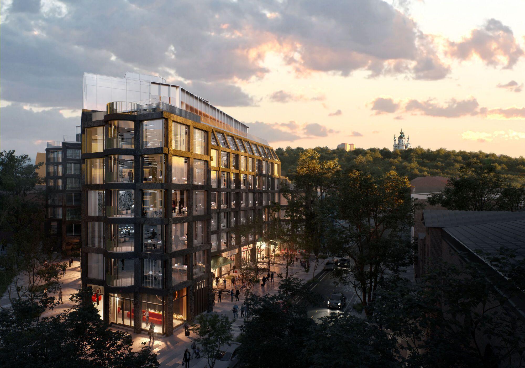 Коммерческие заведения будут располагаться преимущественно на первом этаже здания