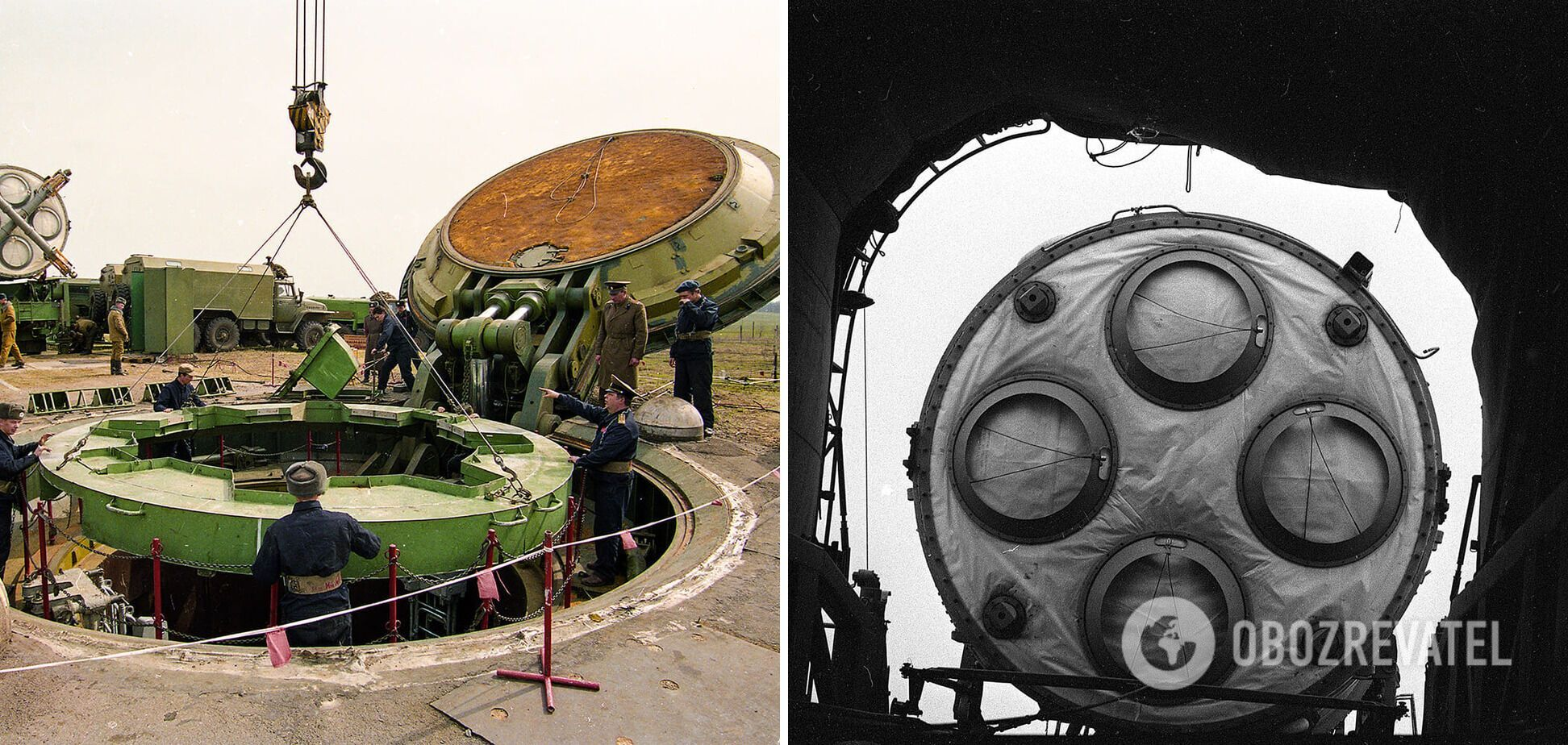 Демонтаж ядерной ракеты СС-19. Первомайск, Николаевская область
