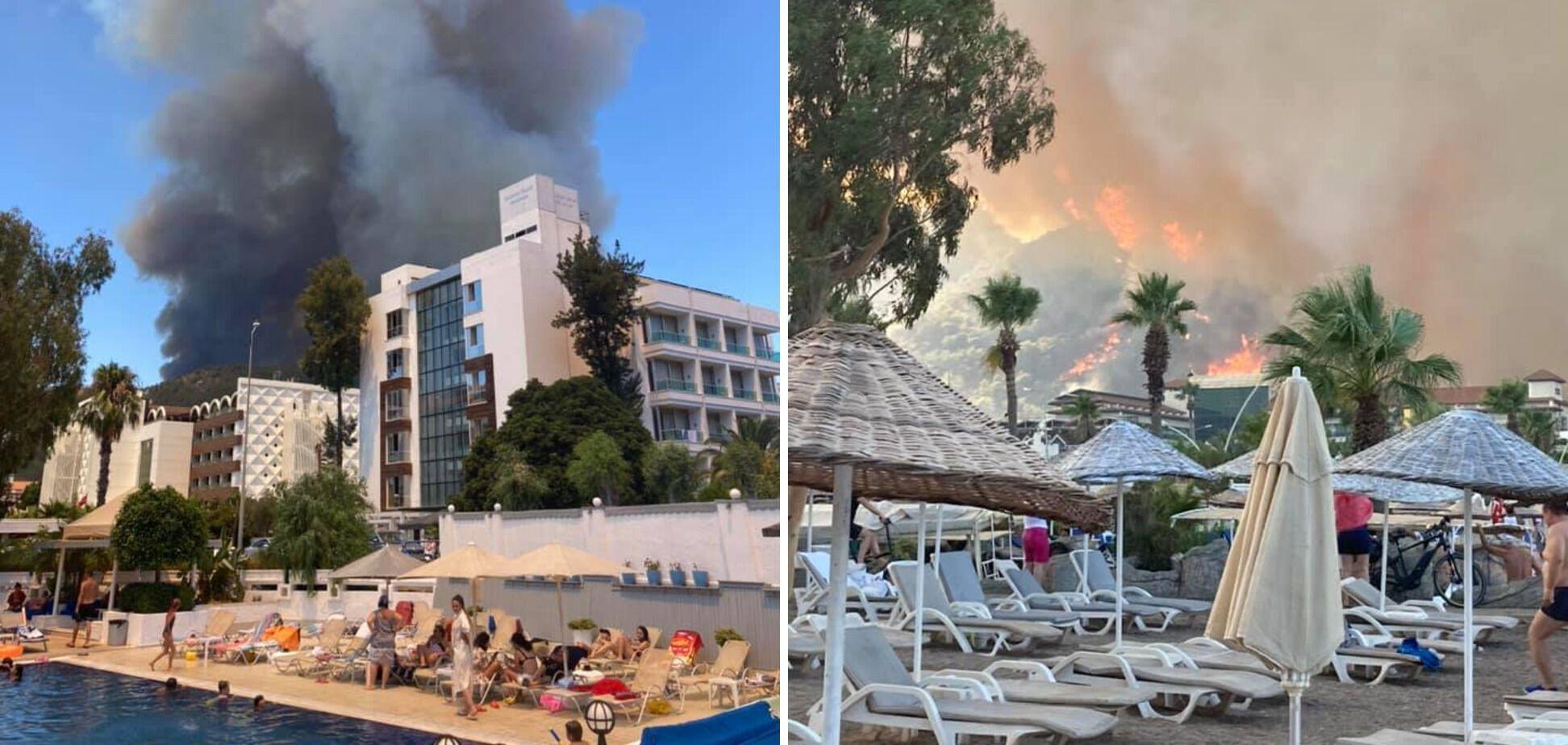 Огонь приблизился к отелям, где отдыхали украинцы