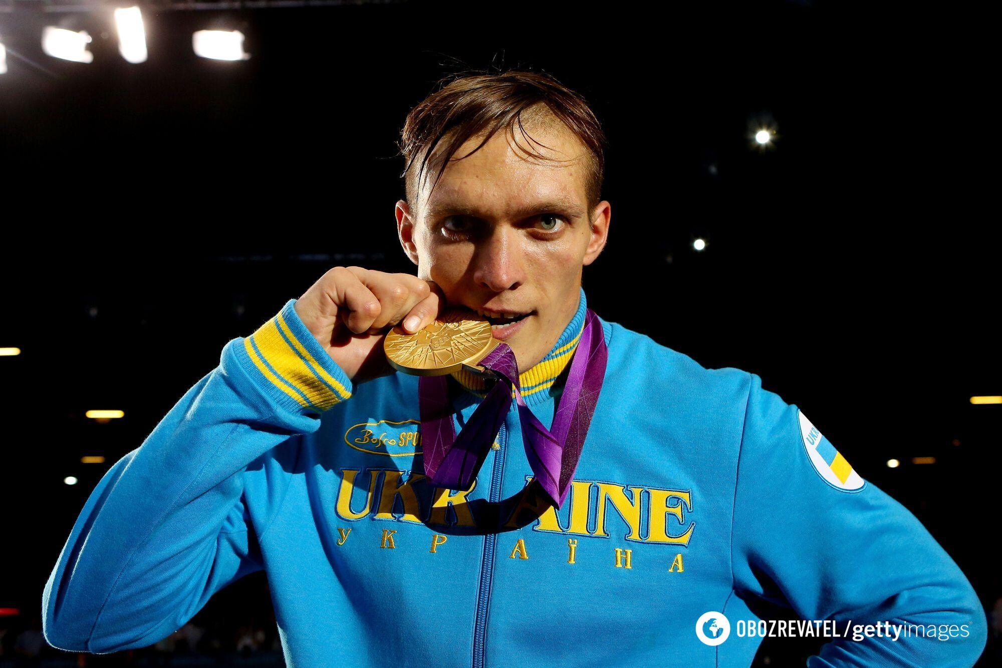 Усик с золотой медалью