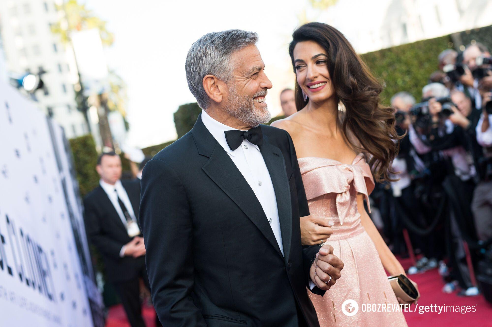 Джордж Клуни со своей возлюбленной Амаль