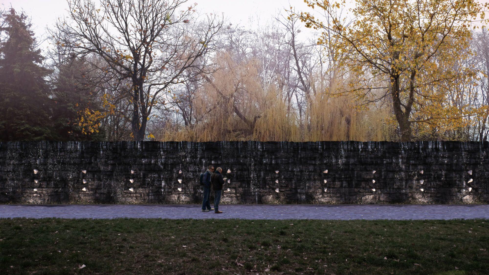 """На территории Бабьего Яра начались работы по возведению """"Хрустальной стены плача"""""""