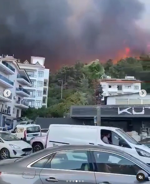 Мармарис в огне.